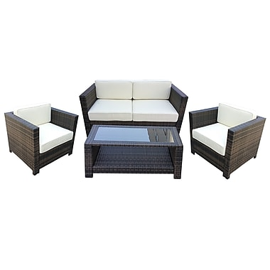 AttractionDesignHome 4 Piece Seating Group w/ Cushion