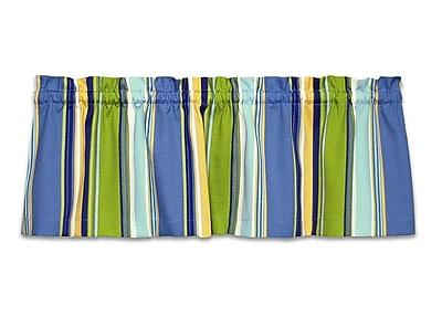 Barnett Home Decor Coastal Westport Caf 52'' Curtain Valance; Blue / Green / Yellow