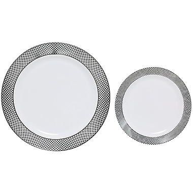 Table to go ''I Can't Believe It's Plastic'' 50 Piece Dinnerware Set