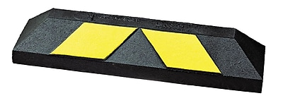 "GNR Home Park It Curb 22""x6""x4"" Rubber Black/Yellow (GNRS1319YB)"