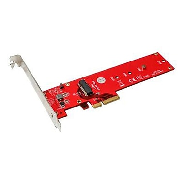 Addonics® ADM2NVMPX4 Red M2 PCIe SSD Adapter for PC