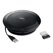 Jabra® Speak 510+ Bluetooth VoIP Desktop Hands-Free Speakerphone with LINK 360 Adapter, Black