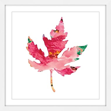 Marmont Hill 'Floral Oak Leaf' by Diana Alcala Framed Painting Print; 24'' H x 24'' W x 1.5'' D