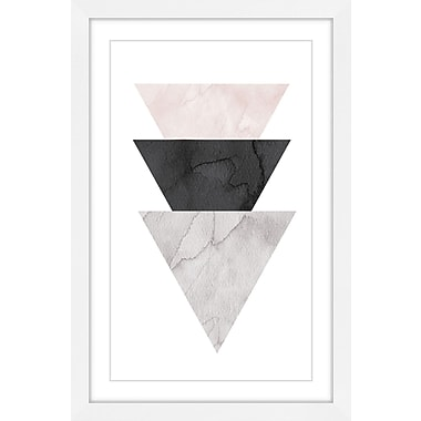 Marmont Hill 'Triangle Stack' by Diana Alcala Framed Painting Print; 24'' H x 16'' W x 1.5'' D