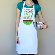 Love You A Latte Shop 100pct Cotton You Only Live Once Lick The Bowl Apron