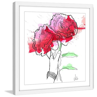Marmont Hill 'Peonies' by Alison Petrie Framed Painting Print; 12'' H x 12'' W x 1.5'' D