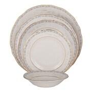 Shinepukur Ceramics USA, Inc. Spring Valley Ivory China 20 Piece Dinnerware Set, Service for 4