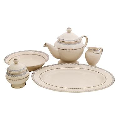 Shinepukur Ceramics USA, Inc. Wik Ivory China Traditional Serving 5 Piece Dinnerware Set