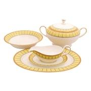 Shinepukur Ceramics USA, Inc. Discovery Bone China Special Serving 5 Piece Dinnerware Set; Green