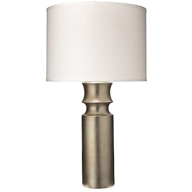 Jamie Young Company Tower 33'' H Table Lamp; Champagne/White Linen
