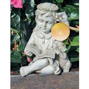 Jeco Inc. Girl Angel Hangs Solar LED Ball Statue