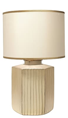 Jamie Young Company Anderson 30'' H Table Lamp; Gold Frosted/Cream/Golden Beige
