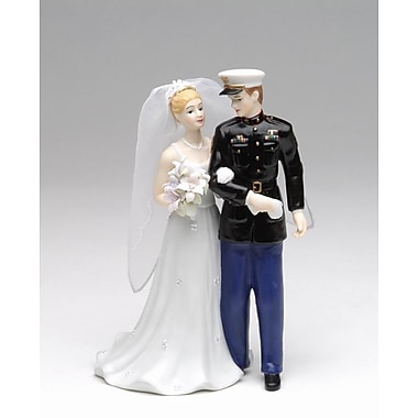 CosmosGifts Marine Bride and Groom Figurine