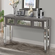 Gallerie Decor Summit Mirrored Console Table