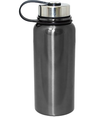 Gourmet Home Products 30 Oz. Vacuum Seal Double Wall Bottle; Gun Metal