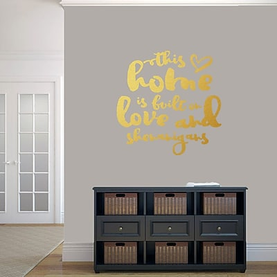 SweetumsWallDecals ''This Home Is Built on Love and Shenanigans'' Wall Decal; Gold
