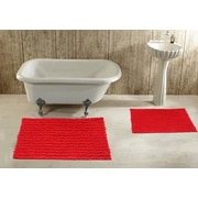 Daniels Bath 2 Piece Bath Rug Set; Red