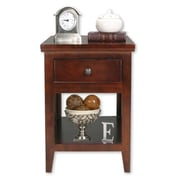 AmericanHeartland End Table; Burnt Red