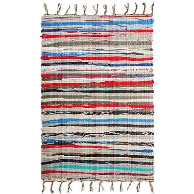 Crover Chindi Doormat; Rectangle 1'8'' x 2'6''