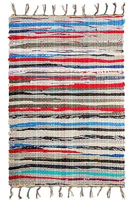 Crover Chindi Doormat; Rectangle 2'6'' x 4'