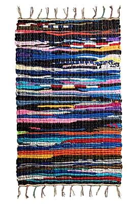 Crover Chindi Doormat; Rectangle 2' x 3'