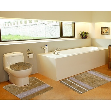 Daniels Bath 3 Piece Bath Mat Set; Galaxy Gold