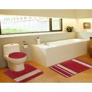 Daniels Bath 3 Piece Bath Mat Set; Galaxy Red