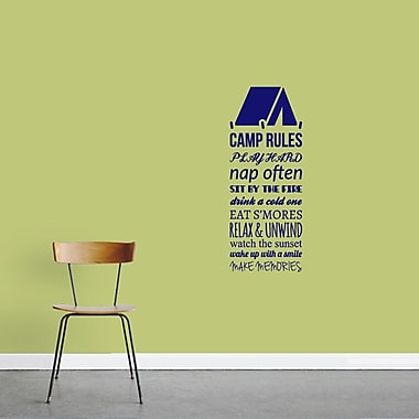 SweetumsWallDecals Camp Rules Wall Decal; Navy