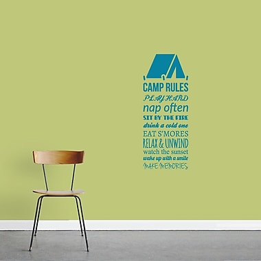 SweetumsWallDecals Camp Rules Wall Decal; Teal