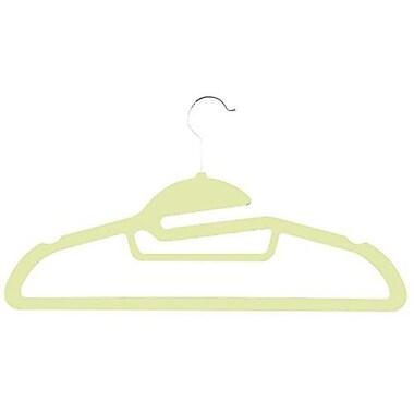 Zen Closet Slide Ultra Thin Heavy Duty No Slip Velvet Suit Hangers with Tie Bar (Set of 200); Beige