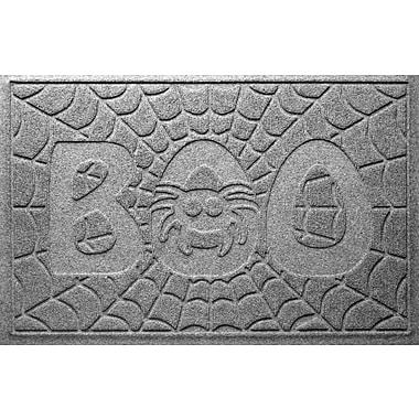 Bungalow Flooring Aqua Shield Boo Spider Doormat; Medium Grey