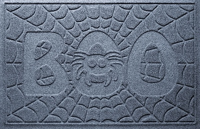 Bungalow Flooring Aqua Shield Boo Spider Doormat; Bluestone