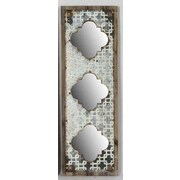 Wilco Home ''Interlace'' Metal and Wood Triple Mirror Panel