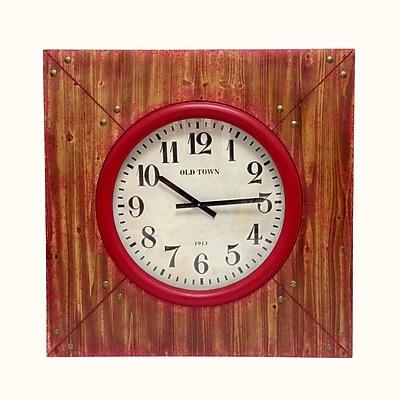 Wilco Home Timberland ''Akron'' Wood Wall Clock