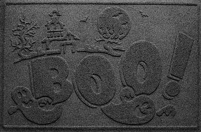 Bungalow Flooring Aqua Shield Boo Ghost Doormat; Charcoal