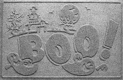 Bungalow Flooring Aqua Shield Boo Ghost Doormat; Medium Grey