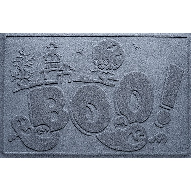 Bungalow Flooring Aqua Shield Boo Ghost Doormat; Bluestone