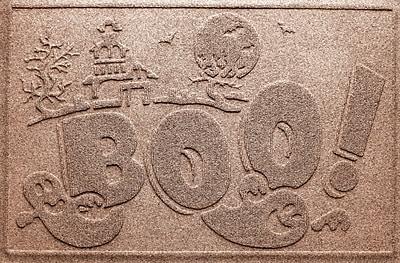 Bungalow Flooring Aqua Shield Boo Ghost Doormat; Medium Brown