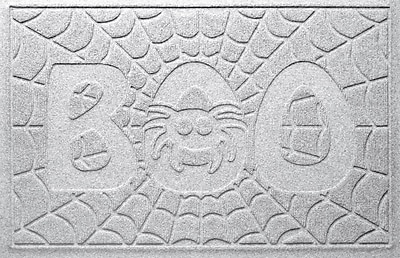Bungalow Flooring Aqua Shield Boo Spider Doormat; White