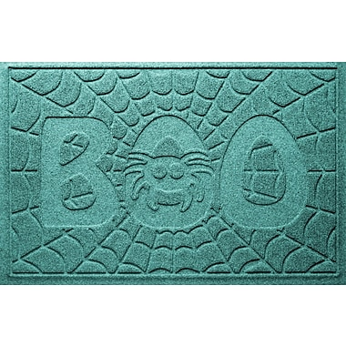 Bungalow Flooring Aqua Shield Boo Spider Doormat; Aquamarine