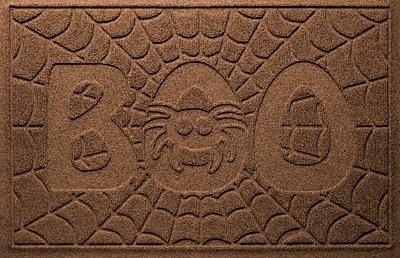 Bungalow Flooring Aqua Shield Boo Spider Doormat; Dark Brown