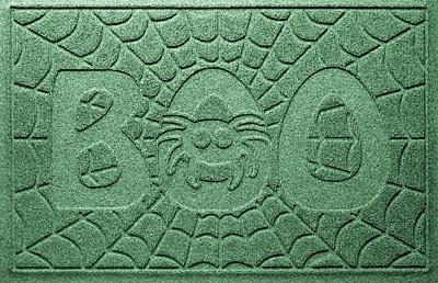 Bungalow Flooring Aqua Shield Boo Spider Doormat; Light Green