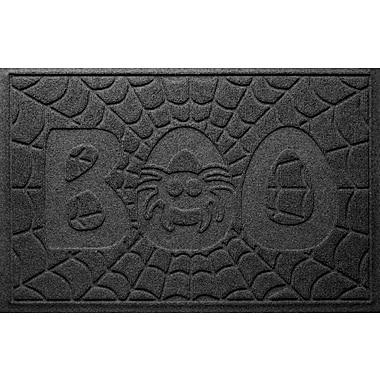 Bungalow Flooring Aqua Shield Boo Spider Doormat; Charcoal