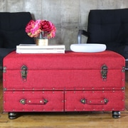 River of Goods Linen Layton Storage Trunk; Red