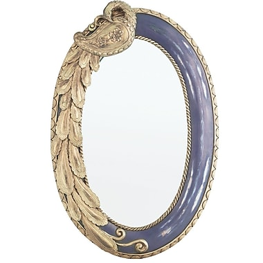River of Goods Oval Peacock Mirror; Purple