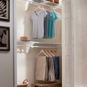 EZ SHELF from Tube Technology Closet System Wall Shelf; White