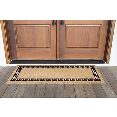 US Cocoa Mat DeCoir Greek Key Doormat