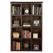 AmericanHeartland Poplar 56'' Cube Unit Bookcase; Chocolate Mousse