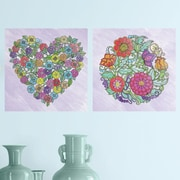 Room Mates Flower Peel and Stick Color Wall Decal