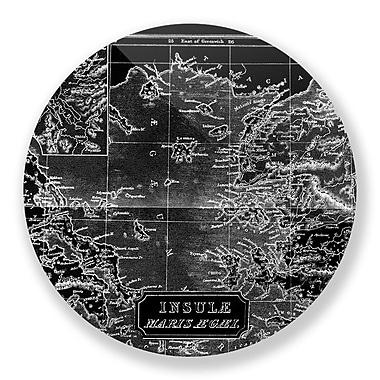 Two Palms Art Bazaar 'Old World Map - Insule Maris' Wall Art; 15'' H x 15'' W x 1'' D